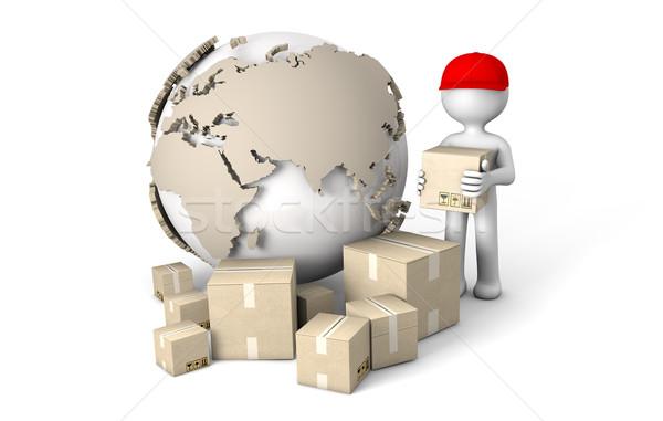 world deliver Stock photo © georgejmclittle