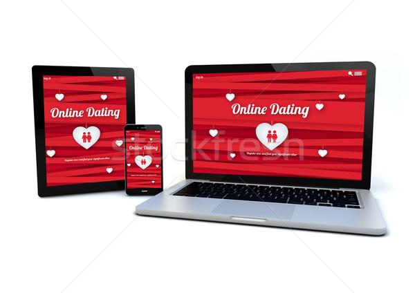 responsive design website online dating concept Stock photo © georgejmclittle