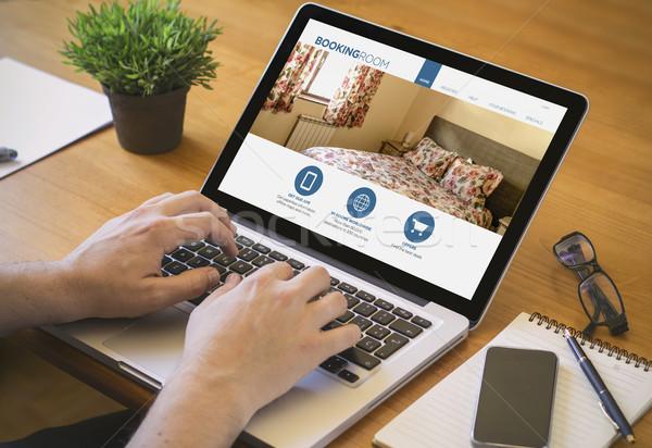 computer desktop booking Stock photo © georgejmclittle