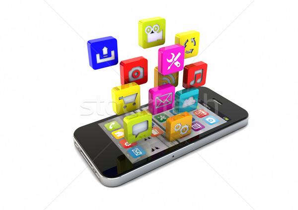 приложения оказывать смартфон приложение иконки Сток-фото © georgejmclittle