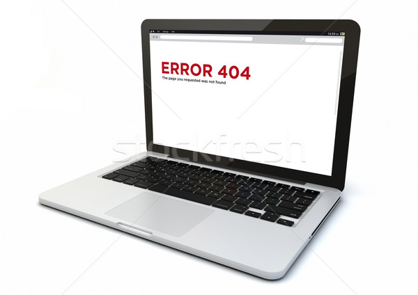 laptop error 404 Stock photo © georgejmclittle