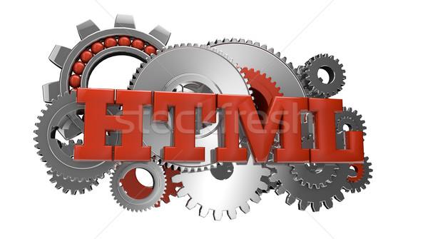 Html oddać narzędzi tekst działalności Internetu Zdjęcia stock © georgejmclittle