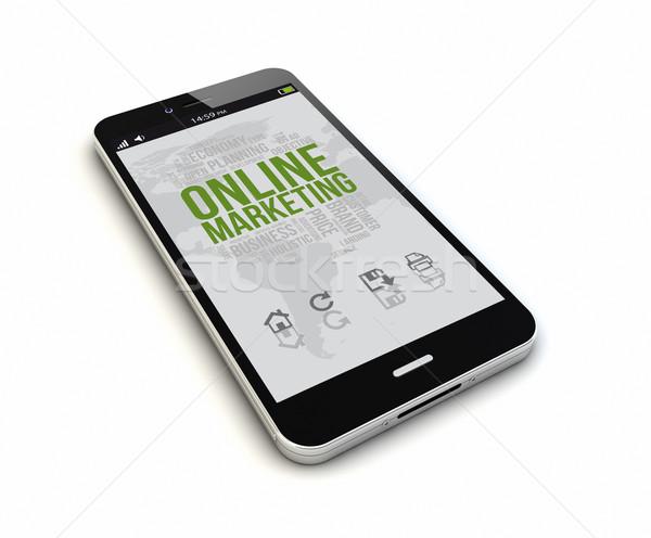 Smartphone oddać oryginał obrotu ekranu Zdjęcia stock © georgejmclittle