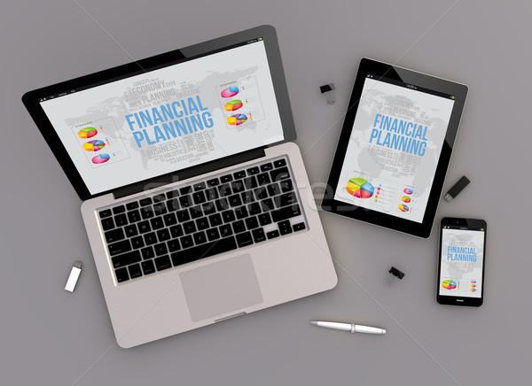 responsive design financial planning zenith view Stock photo © georgejmclittle