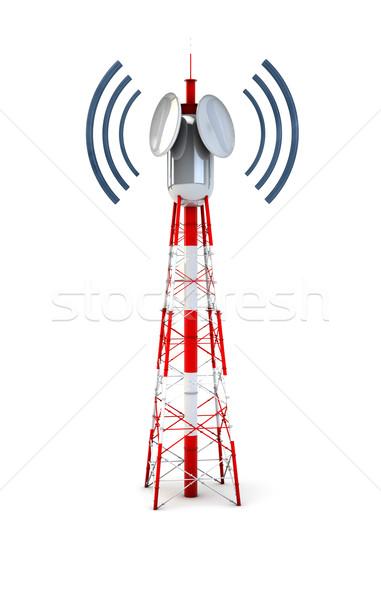 Communication tour technologie radio Photo stock © georgejmclittle
