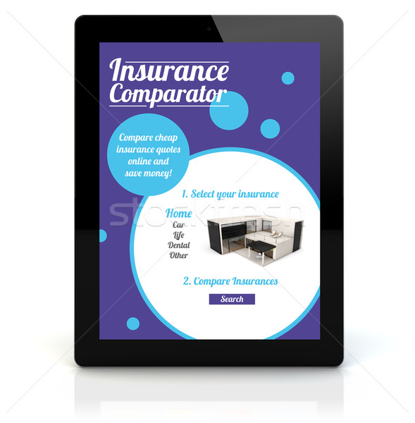 tablet pc insurance comparator Stock photo © georgejmclittle