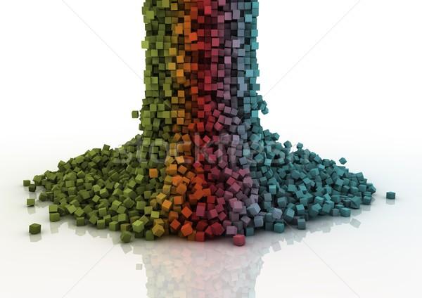 Kaskada kolorowy objętych budowy tle Zdjęcia stock © georgejmclittle