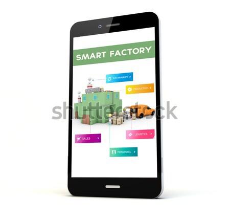Smartphone planification financière originale écran graphiques Photo stock © georgejmclittle