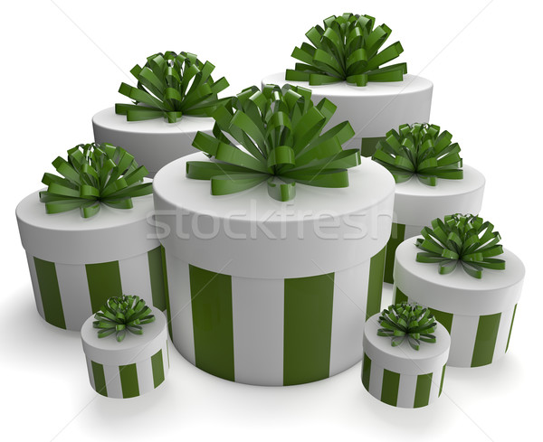 green gifts Stock photo © georgejmclittle