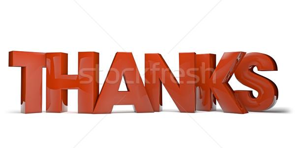 Dank geven tekst gelukkig brief informatie Stockfoto © georgejmclittle