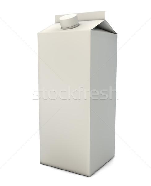 Melk verpakking geven papier ontwerp drinken Stockfoto © georgejmclittle