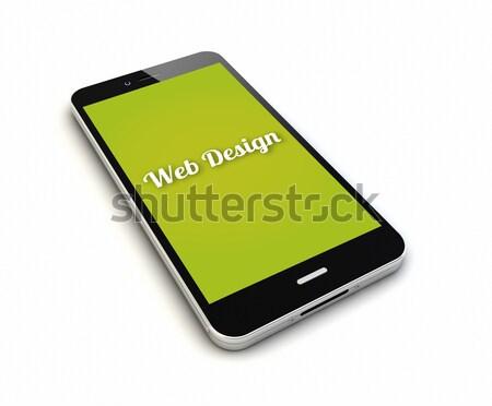 Smartphone geven origineel geïsoleerd scherm graphics Stockfoto © georgejmclittle