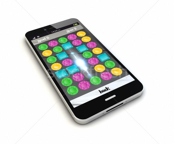 Smartphone ligne originale puzzle Photo stock © georgejmclittle