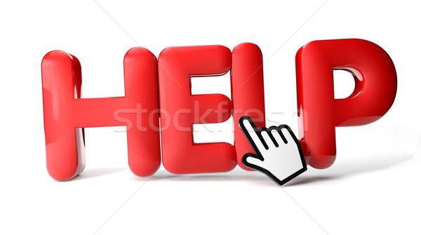 Aider icône signe lettre rouge Photo stock © georgejmclittle