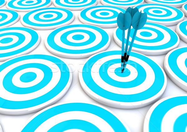 Competitivo dardos tornar trabalhar idéia ganhar Foto stock © georgejmclittle