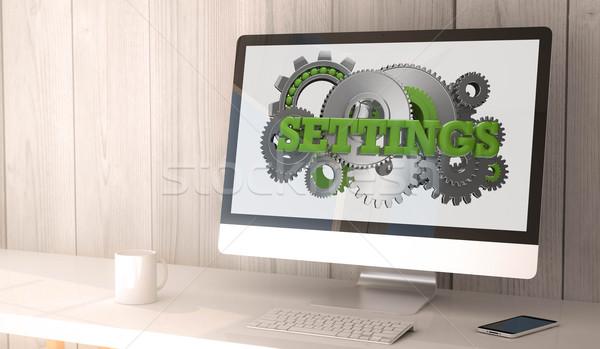 desktop computer settings Stock photo © georgejmclittle