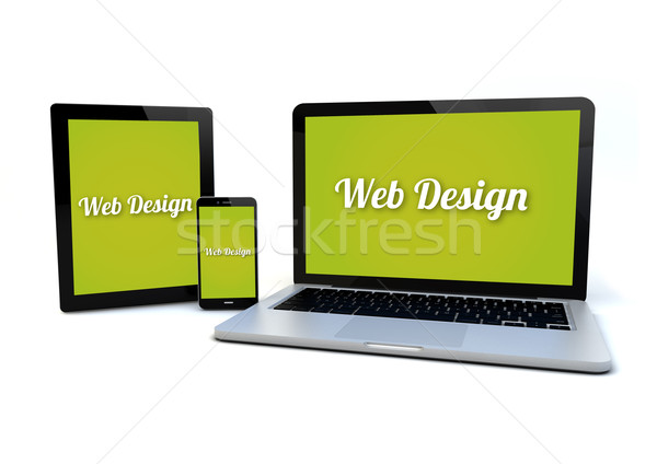 responsive web design concept Stock photo © georgejmclittle