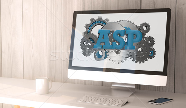 desktop computer asp Stock photo © georgejmclittle