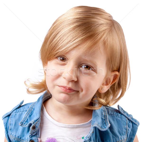 Aranyos mosolyog lány kicsi szórakozás gyerekek Stock fotó © georgemuresan