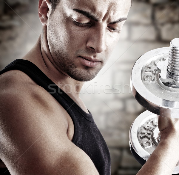Young man in shape Stock photo © georgemuresan