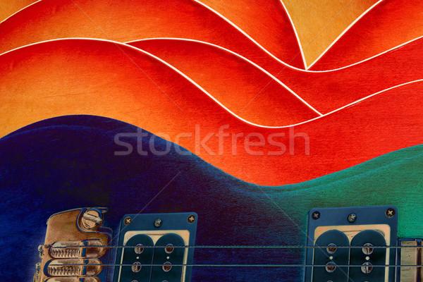 Descobrir estudar guitarra feminino textura corpo Foto stock © georgemuresan