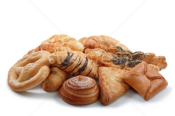 Delicioso grupo menú dulce salado panadería Foto stock © georgemuresan
