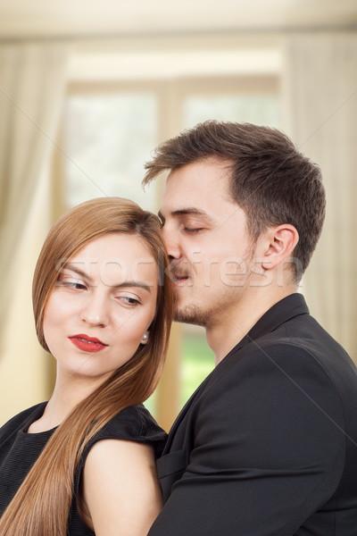 красивой момент радости пару молодые любителей Сток-фото © georgemuresan