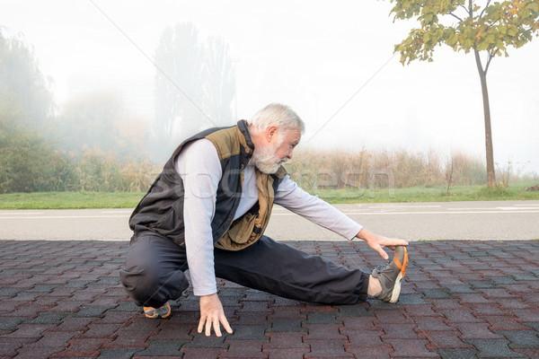 утра здорового осуществлять пожилого человека парка Сток-фото © georgemuresan