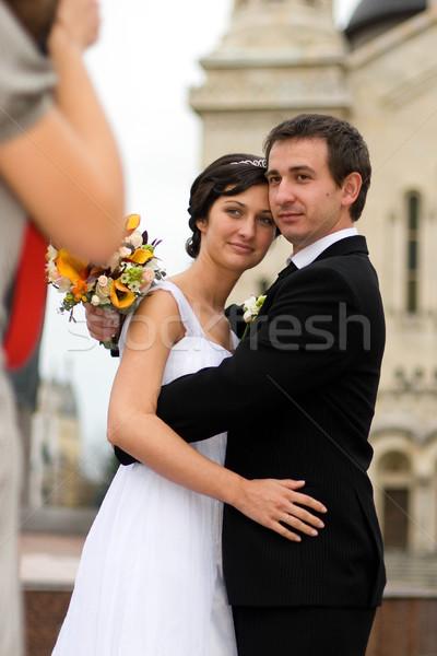 Toma boda foto joven mujer fotos Foto stock © georgemuresan