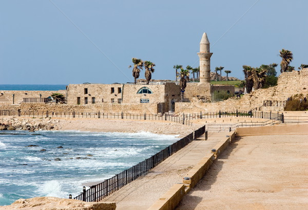 Ruins of ancient Cesarea built by Herod Stock photo © georgemuresan