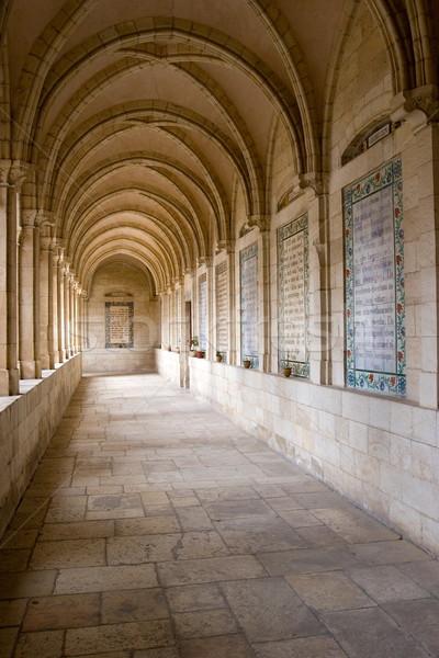 Pasaje iglesia Jerusalén piedra padre historia Foto stock © georgemuresan