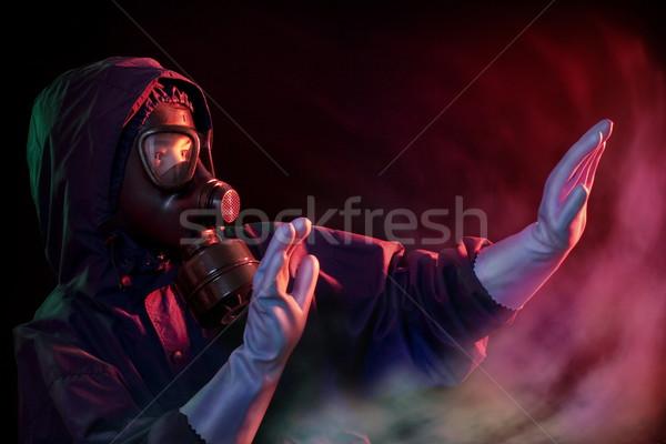 Experiência acidente homem equipamento alto fogo Foto stock © georgemuresan