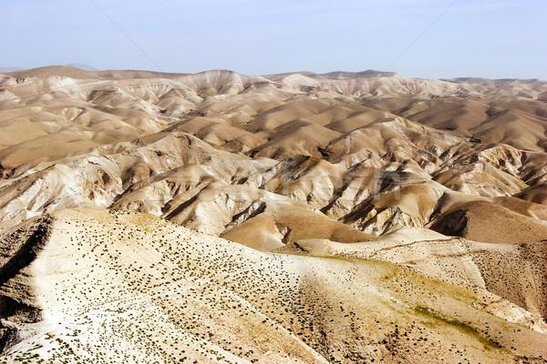 Woestijn panorama vallei Israël sluiten landschap Stockfoto © georgemuresan