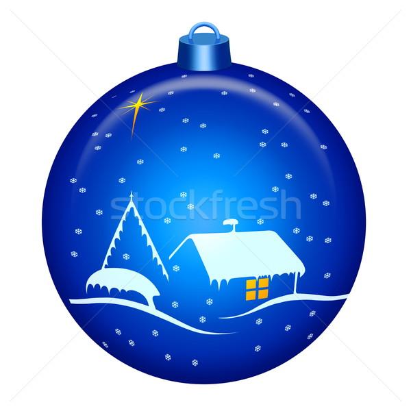 Рождества ночь мира большой звездой Сток-фото © georgemuresan