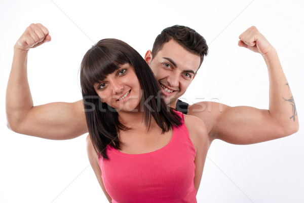 I'm stronger than women! Stock photo © georgemuresan