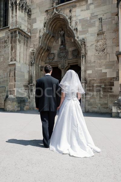 Man and woman marriage Stock photo © georgemuresan