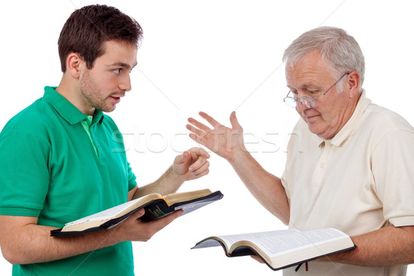 Biblia joven palabras viejo Foto stock © georgemuresan