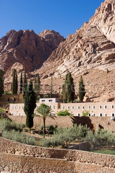 Mosteiro céu paisagem deserto pedra religião Foto stock © georgemuresan
