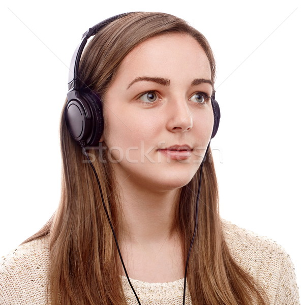 Beautiful listener Stock photo © georgemuresan