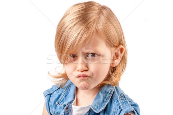 Cute little girl Stock photo © georgemuresan