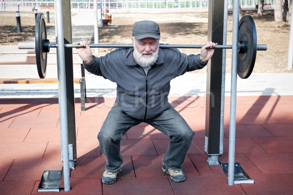 Viejo fitness pesos parque deporte Foto stock © georgemuresan