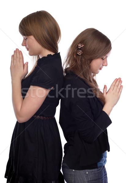Személy probléma kettő lányok áll hát Stock fotó © georgemuresan