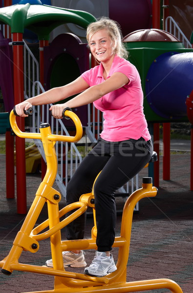 фитнес время девушки весны спорт Сток-фото © georgemuresan