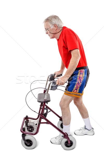 практика больным старик ходьбе фон Сток-фото © georgemuresan