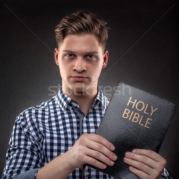 зла молодые христианской человека Сток-фото © georgemuresan
