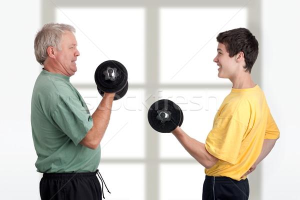 вместе отцом сына тело фитнес Сток-фото © georgemuresan