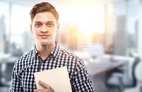 успешный молодые бизнесмен молодым человеком файла Сток-фото © georgemuresan