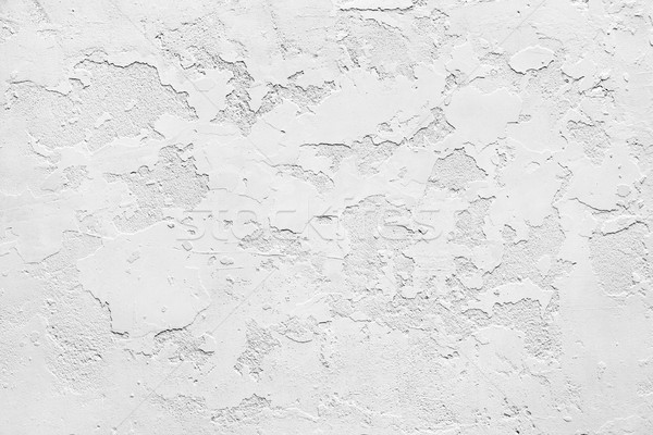 White gypsum rusty wall Stock photo © georgemuresan