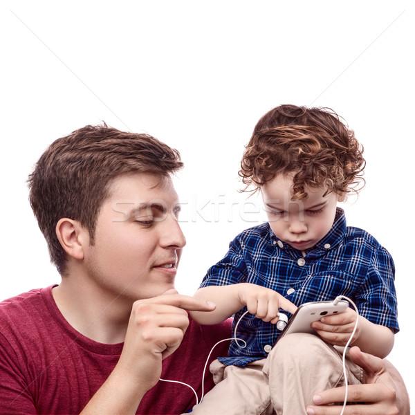 Ensenanza hijo jóvenes padre ensenar trabajo Foto stock © georgemuresan