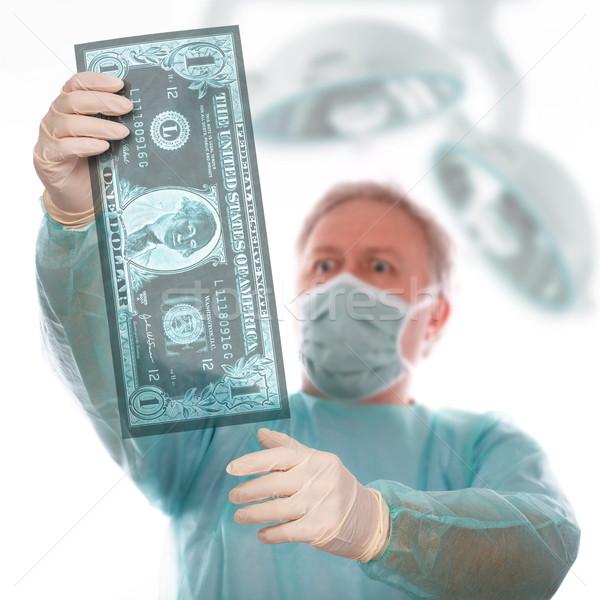 Dólar enfermedad especialista Xray toma último Foto stock © georgemuresan